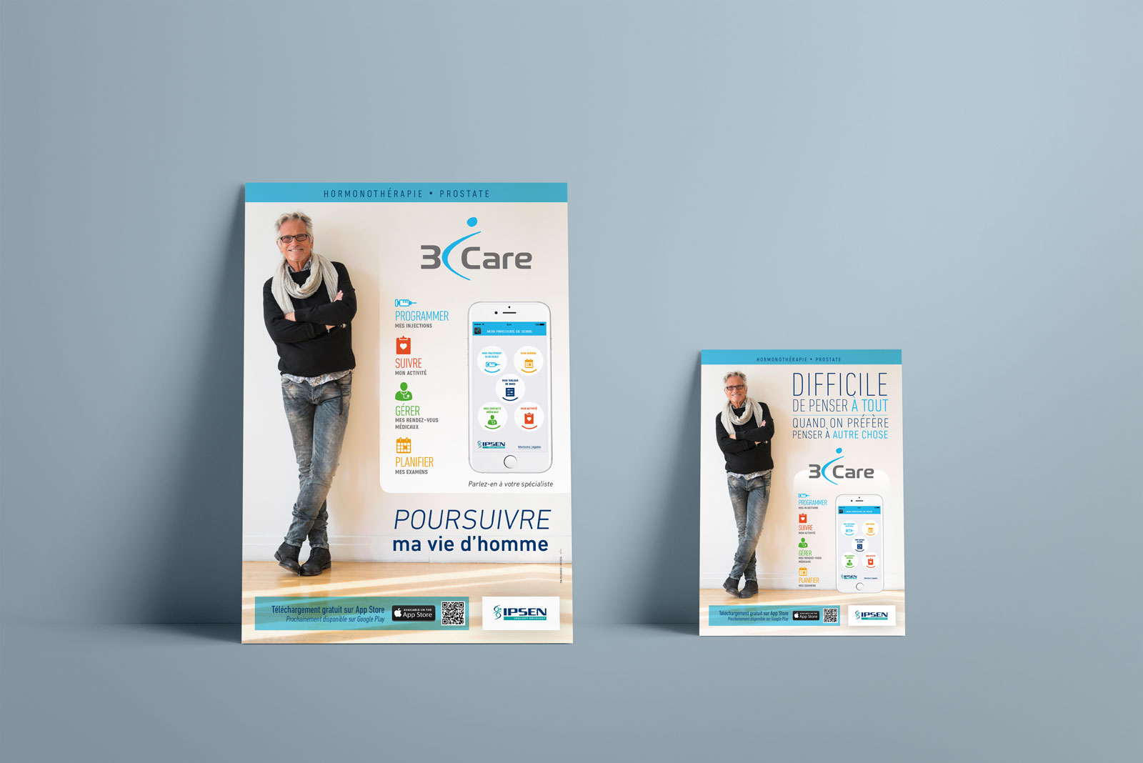 Poster et flyer - application 3iCare