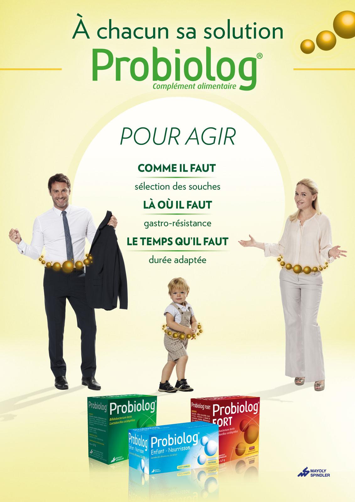 gamme Probiolog : agir là, où et comme il faut