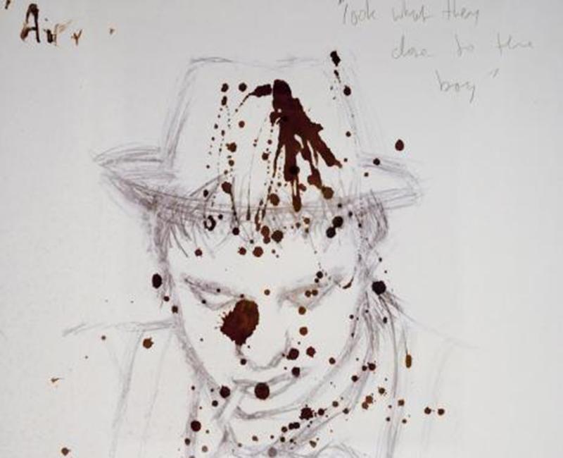 Autoportrait au sang de Pete Doherty